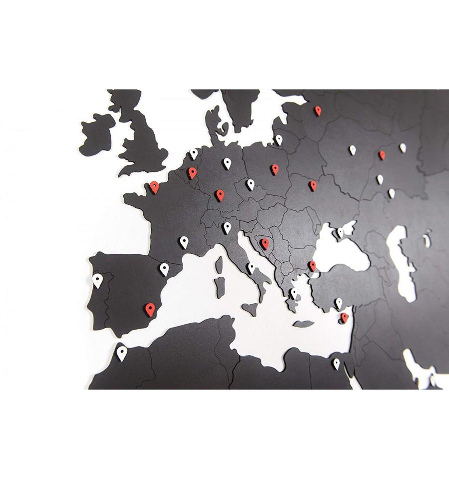 carte du monde murale geante 280x170 cm noir