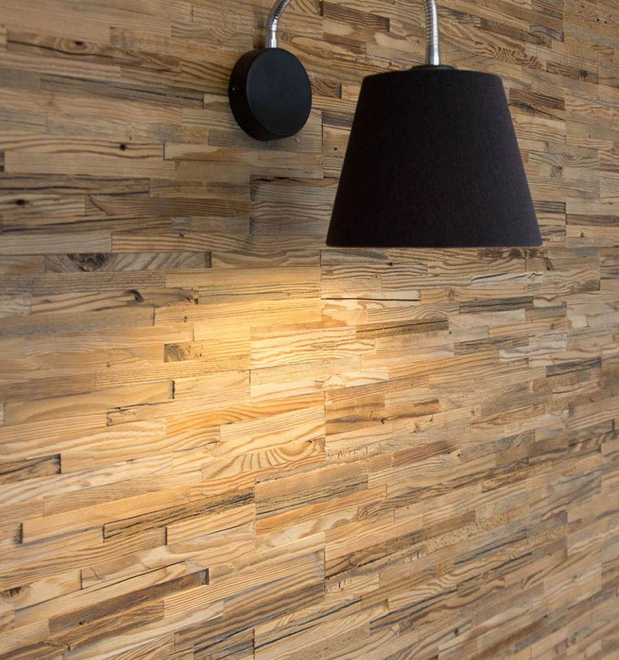 panneau mural bois brut wooden wall