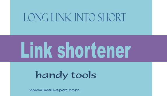 Link shortener handy tools