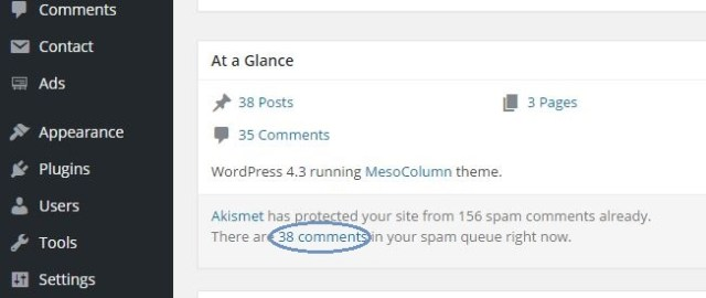 Stop receiving spam comments