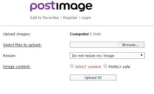 PostImage free image hosting