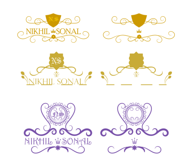 Wedding name decoration template
