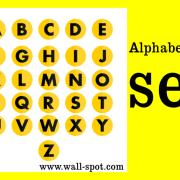 Alphabet icon set