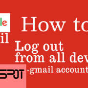 Gmail account log out from all devices