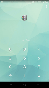 AppLock random numeric keyboard