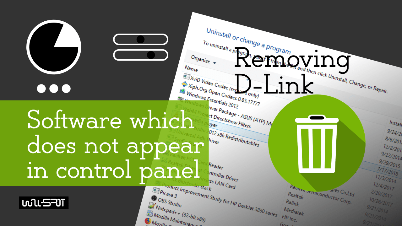 How To Remove Software Does Not Appear In The Control Panel