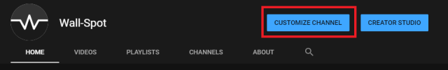 YouTube customize channel