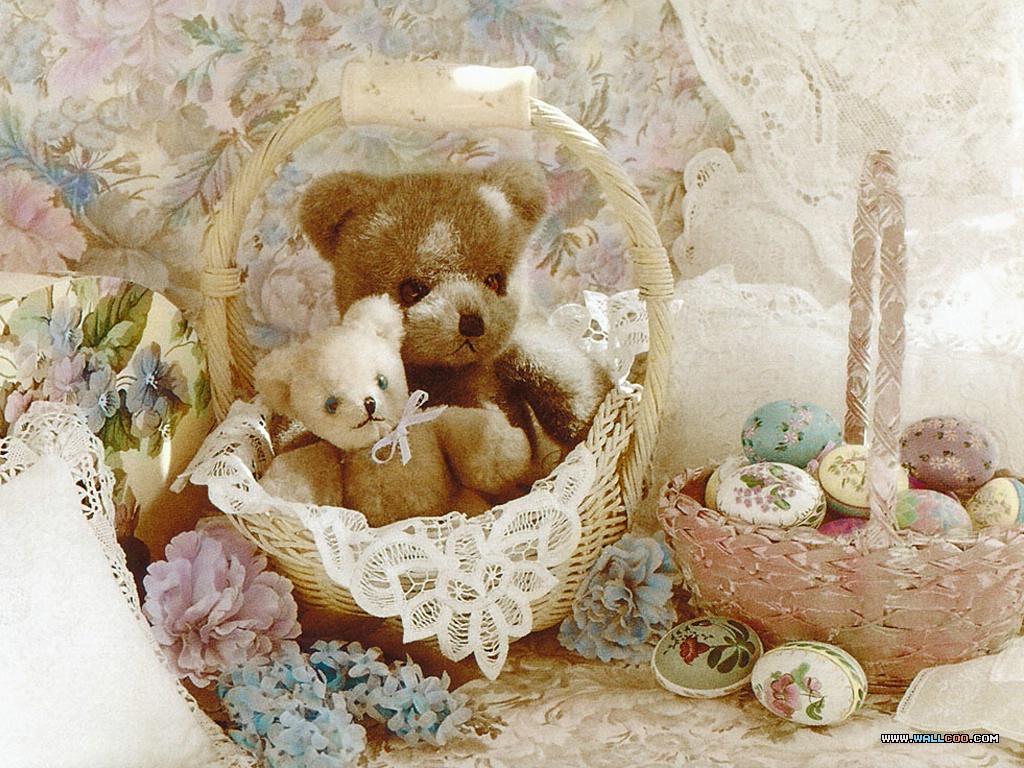 Cute St Patricks Day Wallpaper 桌布天堂 百年泰迪熊 Teddy Bear系列(二) 2002年年歷4