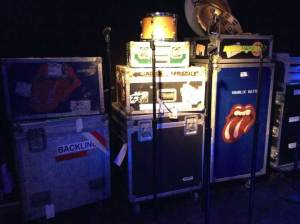 Rolling Stones Equipment Back Stage