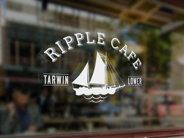 Ripple Cafe Logo Design