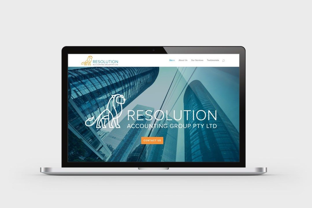 Resolution Accounting Group website design, build and copy writing - Business Startup