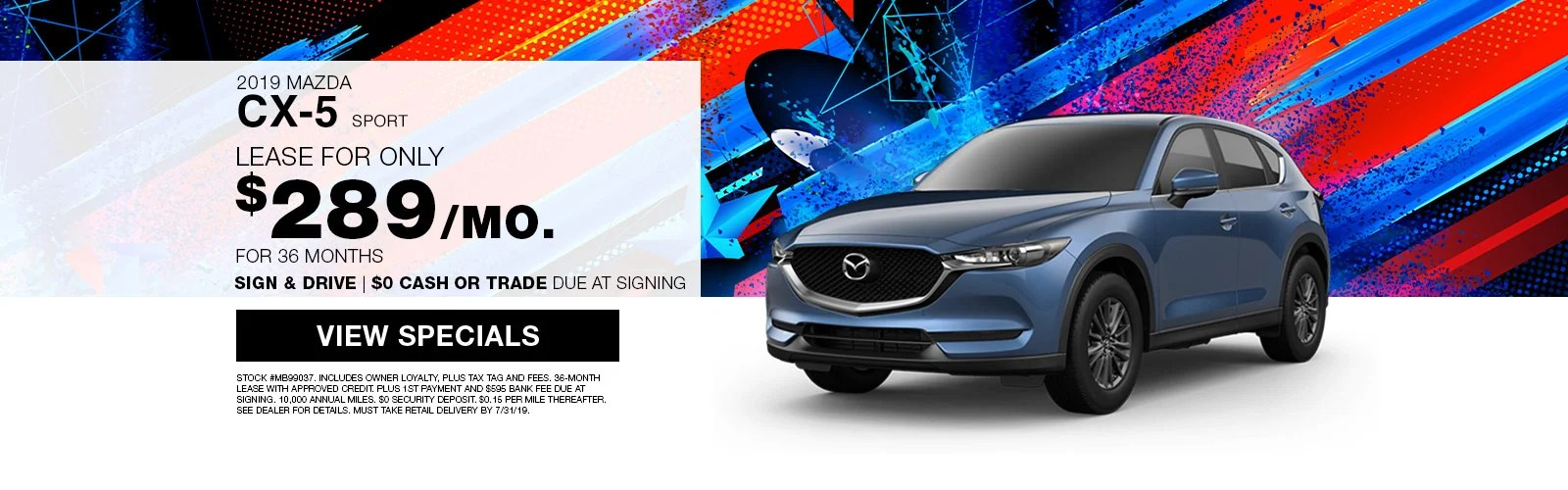 hight resolution of 2019 cx 5 sport lease special