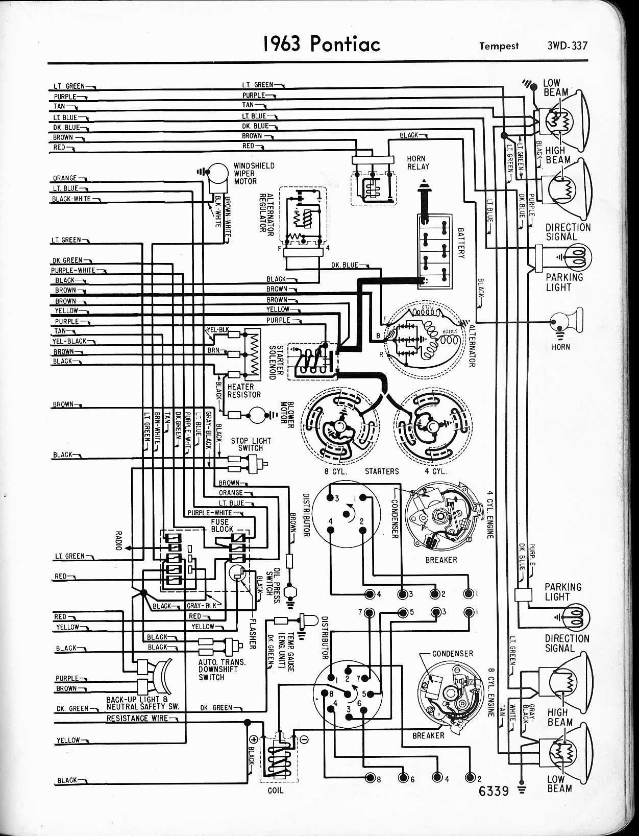 [WRG-2228] 1964 Pontiac Catalina Wiring Diagram