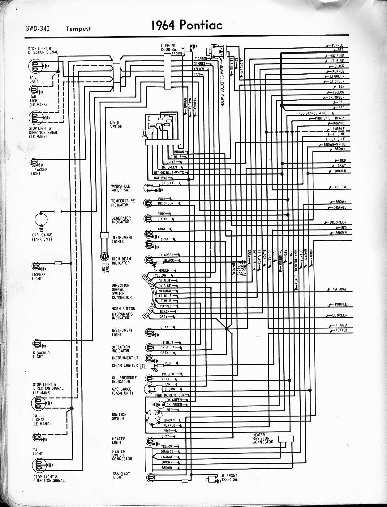 hight resolution of wallace racing wiring diagrams1964 tempest left page
