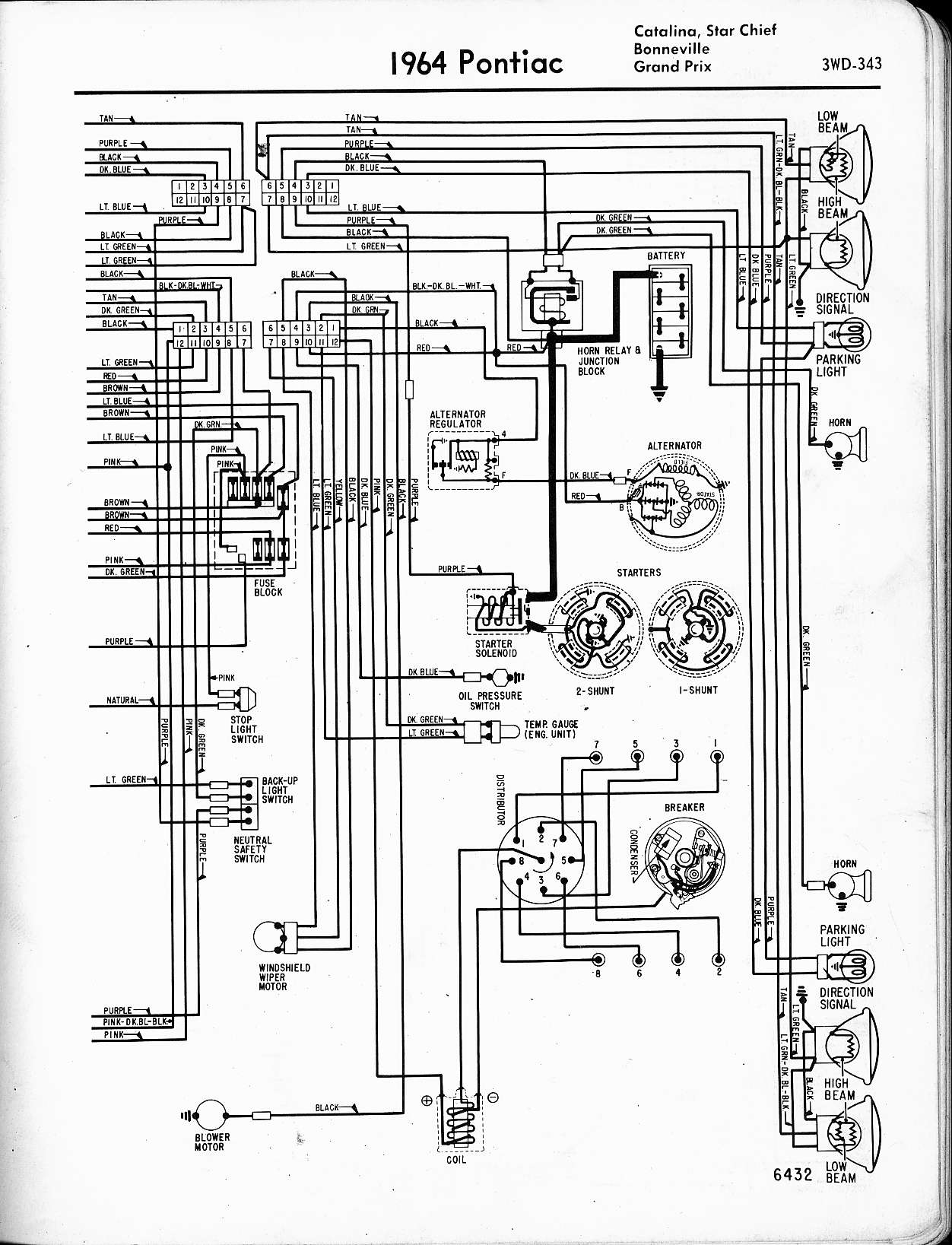 hight resolution of wallace racing wiring diagrams1964 catalina star chief bonneville grand prix right page