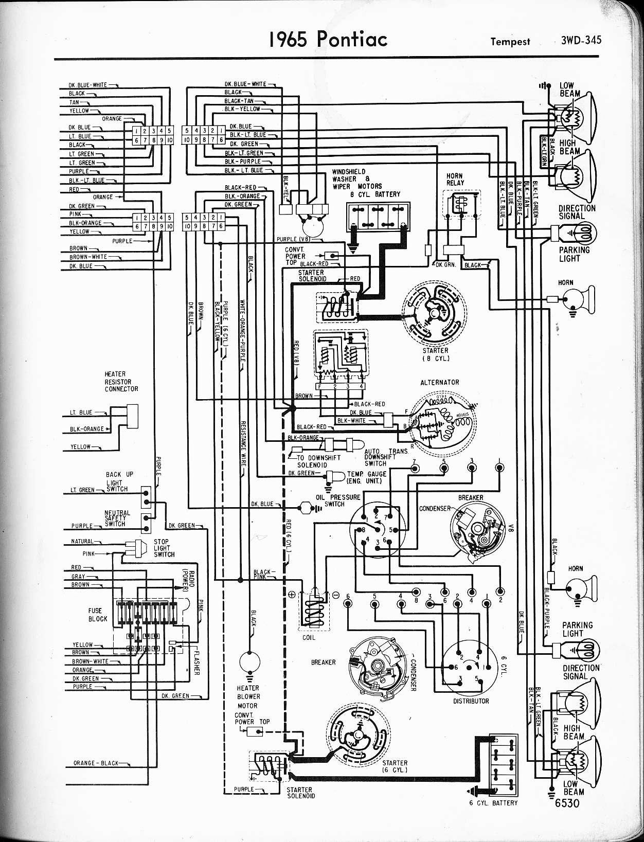 [WRG-7447] 1964 Chevy Ignition Switch Wiring Diagram