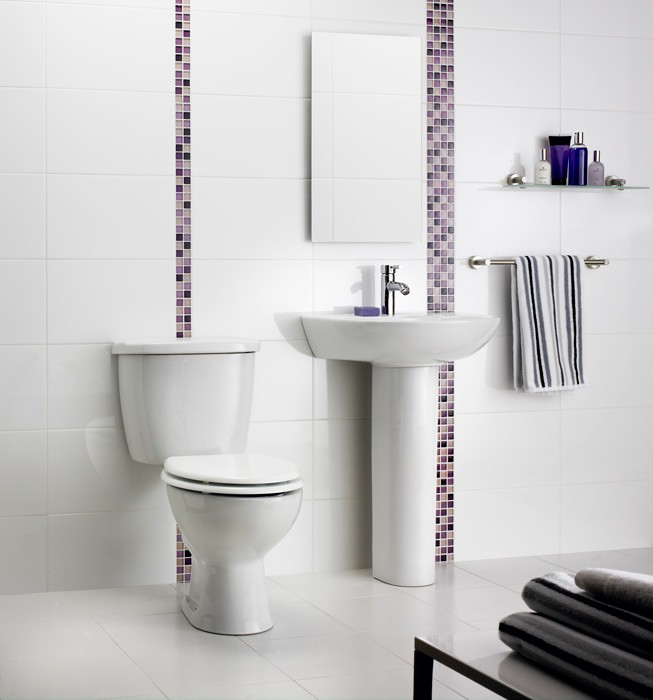 Dimensions White Wall Tile (400x250mm)