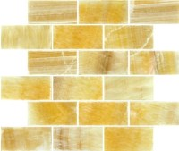 Buy 2x4x8MM Honey Onyx Subway Mosaic - Wallandtile.com