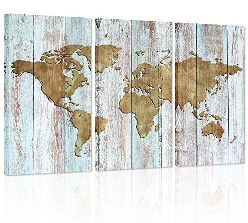 Large world map canvas artvintage map poster printed on canvas large world map canvas artvintage map poster printed on canvasdual view wood background canvas artmap of world canvas prints wall artmap poster artwork gumiabroncs Images