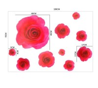 Red rose wall stickers - Wall Art Ideas