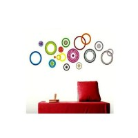 Colorful circle wall stickers - Wall Art Ideas