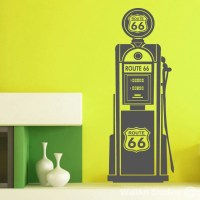 Route 66 Gas Pump Wall Art Decals