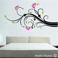 Wall Art Swirl | Decorative Floral Wall Decals | Wall Art ...