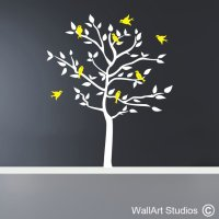 Forest Silhouette Birds Decal | Wall Art Stickers | Wall ...