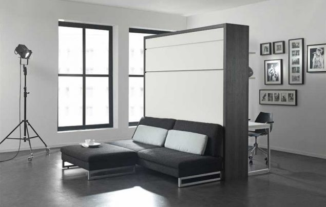 murphy bed in small living room blue and white decor the london wallbed company largest range of wallbeds loft1