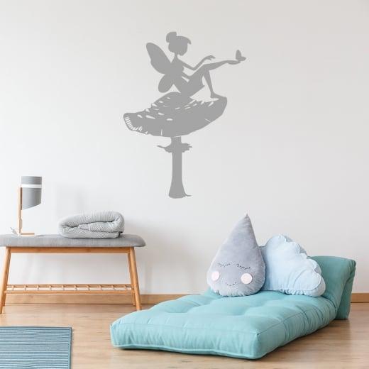 Wall Chimp Fairy on Toadstool Wall Sticker