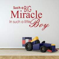 Miracle Baby Boy Wall Sticker Quote - Wall Chimp UK.