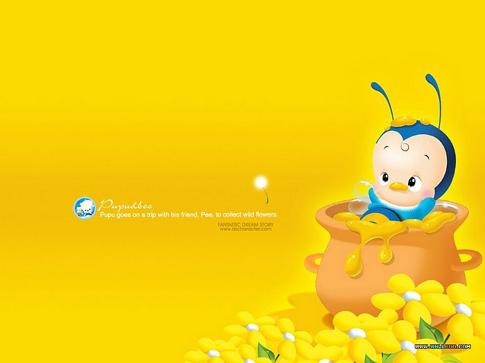 Cute Images For Computer Wallpaper 韩国超可爱卡通蜜蜂 Desktop Wallpaper Of Dream Story Cartoon