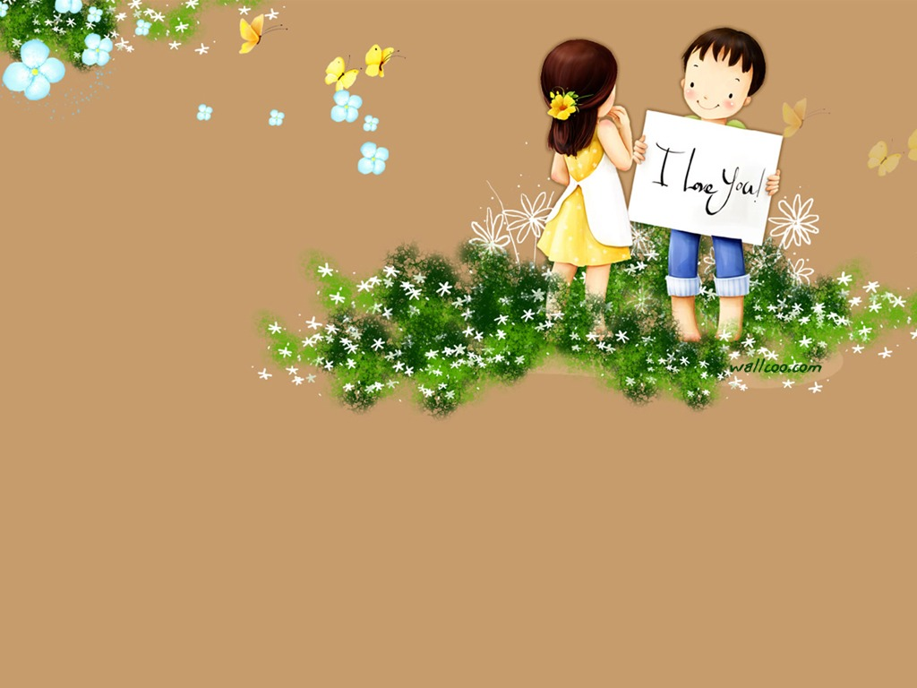 Animated Love Couple Wallpapers Kim Jong Bok Illustrations Vol 04 Sweet Puppy Love