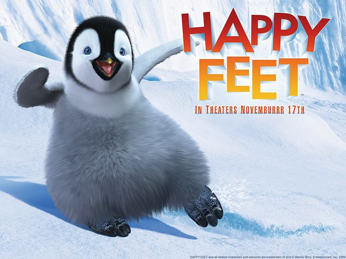Animated Cartoon Wallpaper Movie Wallpaper The Happy Feet 2006 2 Wallcoo Net