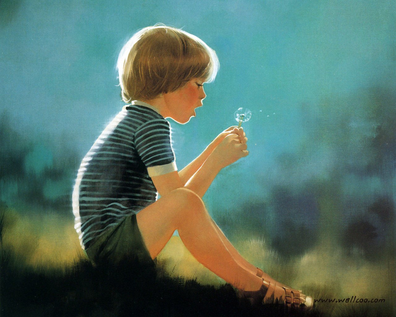 Cute N Lovely Wallpapers Heartwarming Childhood Monents Donald Zolan S Oil