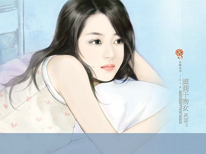 Angelic Sweet Girl Beautiful Chinese Girl Painting Wallpaper