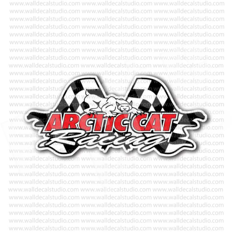 From $4.00 Buy Arctic Cat Racing Snowmobiles Sticker at