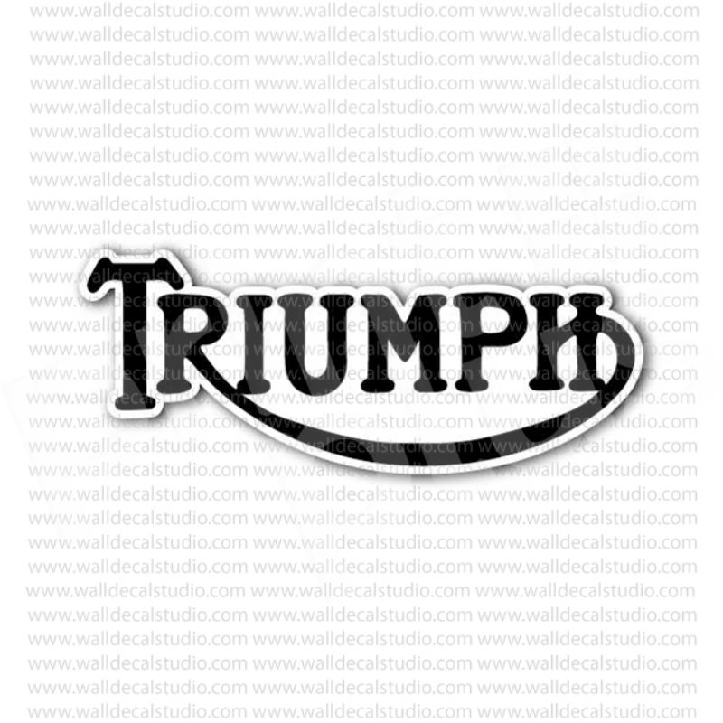 From $4.00 Buy Triumph Motorcycle Sign Sticker at Print