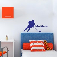 Hockey Player with Name Wall Decal | Wall Decal World