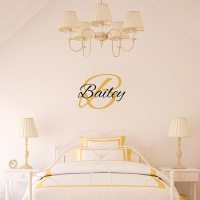 Personalized Name Wall Decals | Initial Wall Decals