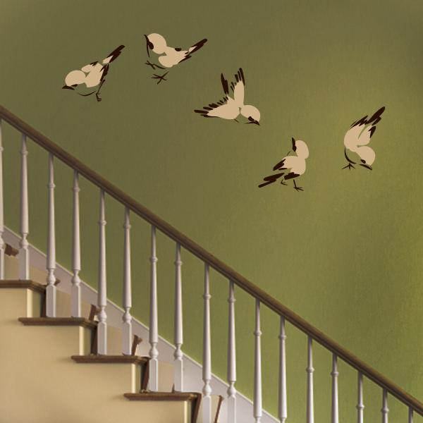printed bird wall decal set wall decal world