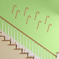 Candy Cane Wall Decor | Reusable Christmas Wall Decals
