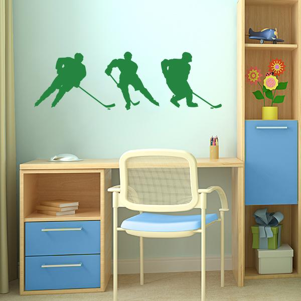 hockey player wall decals wall decal world