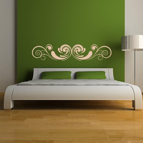 Ornate Headboard Wall Decal Bedroom Wall Decals Wall