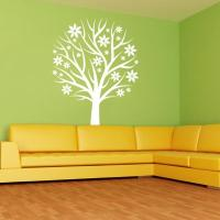 Nursery Tree with Flowers Wall Decal Mural