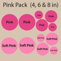 Pink Polka Dot Wall Decals | Pink Polka Dot Wall Stickers