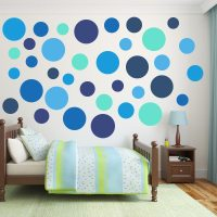 Multi-Size Blue Polka Dot Wall Decal Pack | Wall Decal World