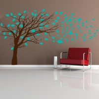 Tree Blowing in the Wind Wall Decal | Tree Mural Decal