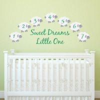 Sweet Dreams Counting Sheep Wall Decal