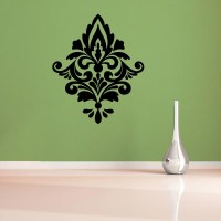 White Damask Wall Decals   www.imgkid.com - The Image Kid ...